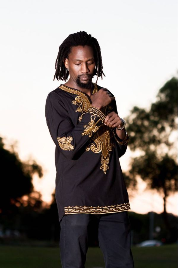 African Embroidery Long Sleeve Shirt