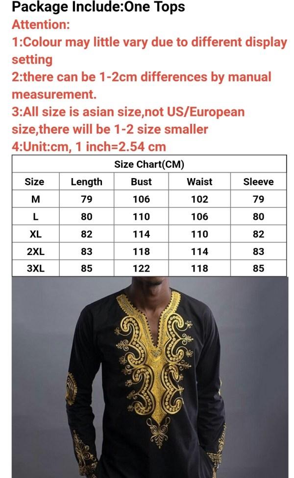 Khona Shirt Size Chart