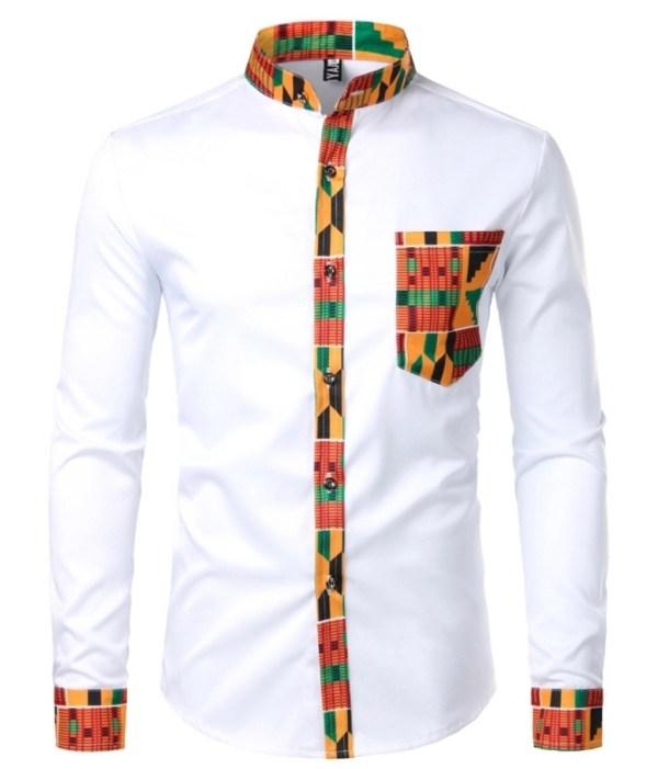 African Formal Shirt (White)