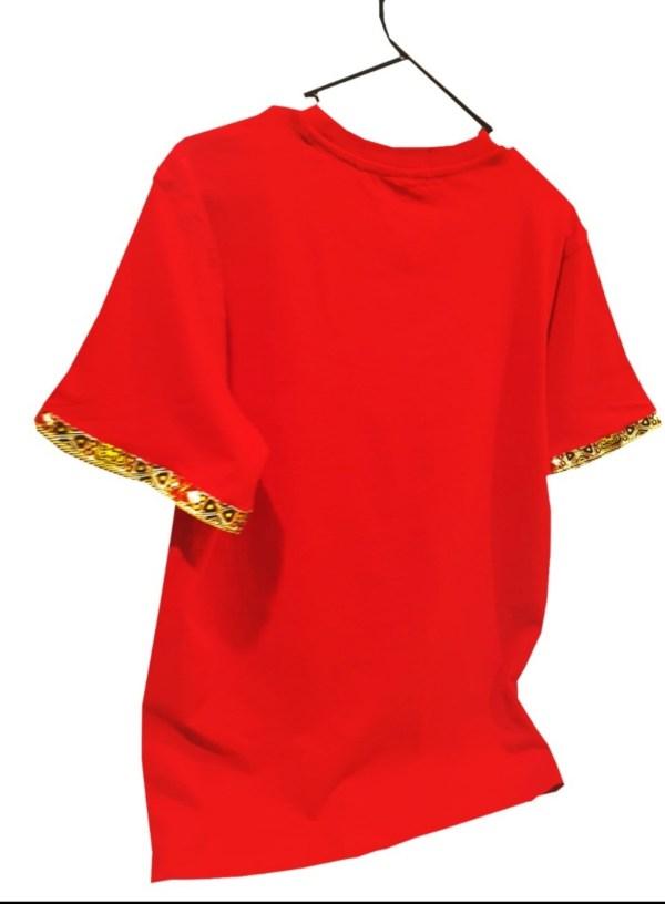 African Boys Tshirt Ankara Red