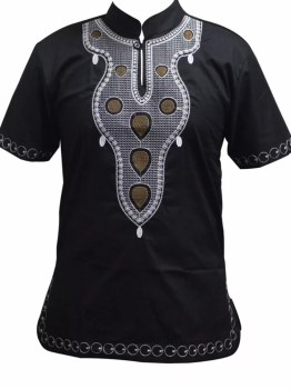 African Embroidery Shirt (Black)