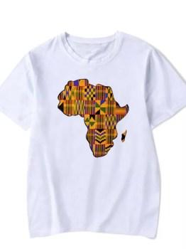 Africa Map Kids T-shirt (White)