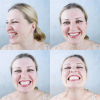 zahnseide welche wann wie oft zahnseidenkampagne probe lächeln fröhlich frau zähne