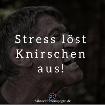 Hinterm Knirschen steckt oft Stress.