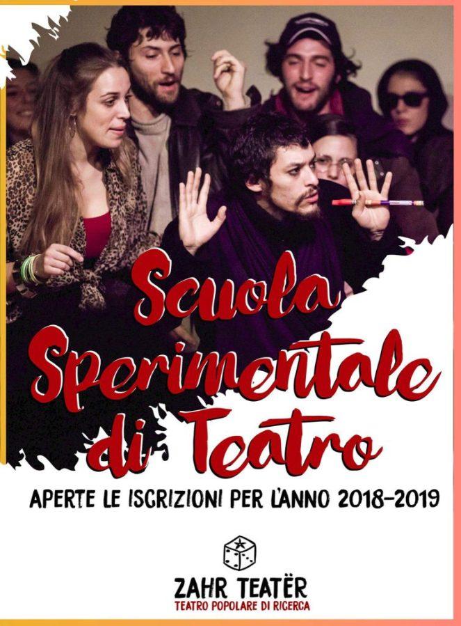 Zahr Teatër Scuola Sperimentale di Teatro: aperte le iscrizioni per l'anno 2018-2019
