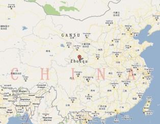El lugar de la catástrofe: el condado de Zhouqu, en la provincia de Gansu.