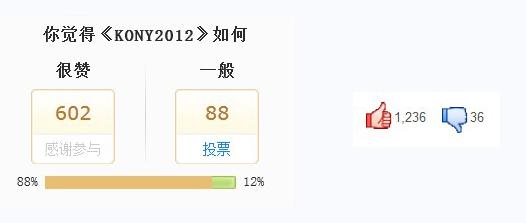 """A la izquierda, la pequeña encuesta realizada por QQ News. A la derecha, los """"likes"""" y """"dislikes"""" en la página de Youku."""