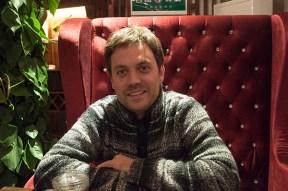 El periodista Ángel Villarino en Pekín, unos días antes de presentar su nuevo libro en España.