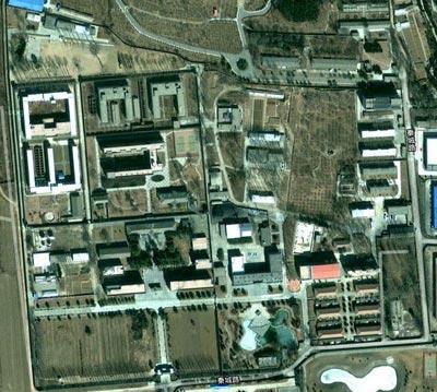 Vista aérea de la cárcel.