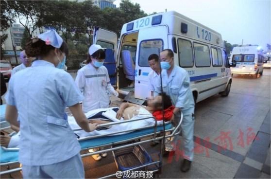 Los heridos más graves (16) fueron evacuados en avión.