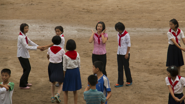 Niños en una escuela de Pyongyang (FOTO: Daniel Méndez)