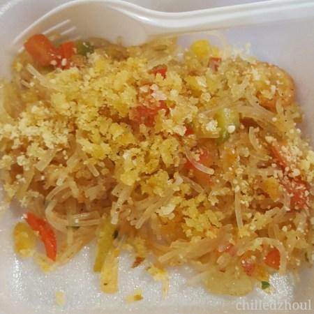 A spicy noodle dish by Lotus Garden Hotel