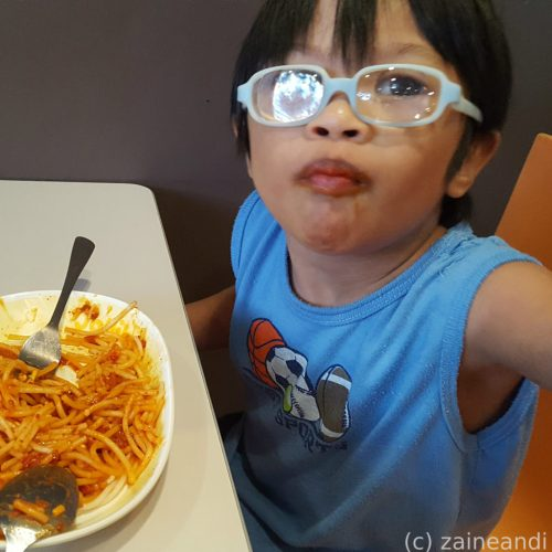 charming little boy_pasta