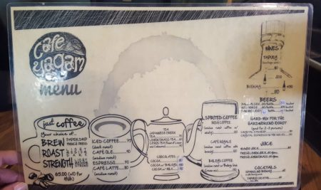 Cafe yagam drinks menu