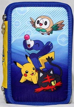Astuccio Scuola Con 45 Pezzi 3 Cerniere Pokemon Blu 0