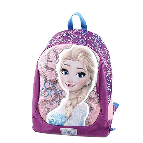 Frozen Zaino Superstar Con Grafiche E Stampe Personalizzate Zainetto Per Bambini Poliestere Rosa 46 Cm 0