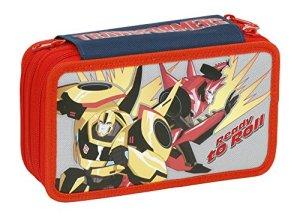 Giochi Preziosi Transformers Astuccio Triplo Con Colori Pennarelli Ed Accessori Scuola 0