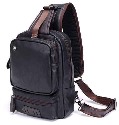 Zaino monospalla in diversi colori con una tasca esterna grande e una piccola per il cellulare,ideale per uomo o donna sportivo e pratico. simpatico