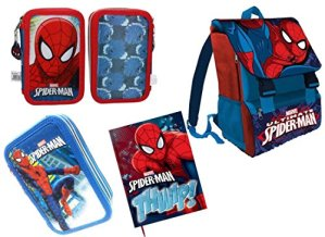 Irpot Set Scuola N1 Spiderman Zaino Sp16101 Astuccio As9044 Diario 0