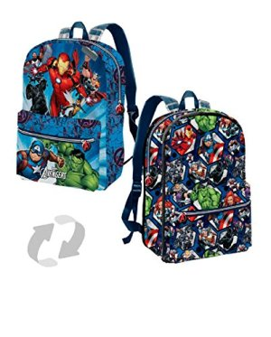 Karactermania The Avengers Powerful Reversible 2 In 1 Backpack Small Zainetto Per Bambini 31 Cm 75 Liters Blu Blue 0