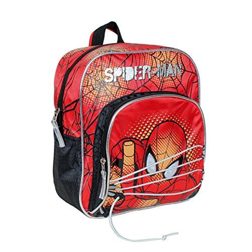 Marvel Spiderman Zaino Scuola Asilo Elementare 27cm Doppia Zip Applicazioni 0