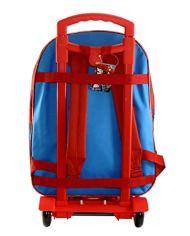 Marvel Spiderman Zaino Scuola Trolley Rimovibile 41x32x14cm Blu Rosso Elementari Medie 0 1