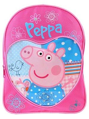 Peppa Pig Zaino Zaino Love Cuore Per Bambini Junior Zaino Scuola Rosa Blu 0