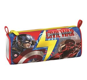 Portapenne Captain America Civil War Scuola Poliestere Multicolore 0