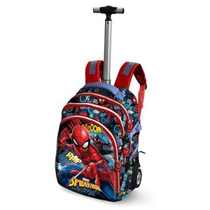 Spiderman Smash Travel Trolley Rucksack Zaino Casual 28 Liters Blu 0