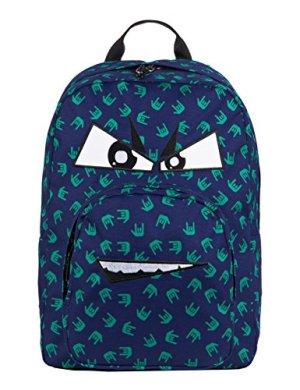 Zaino Invicta Ollie Pack Face Fantasy 25 Lt Blu Tasca Per Portatile E Tablet 0 0