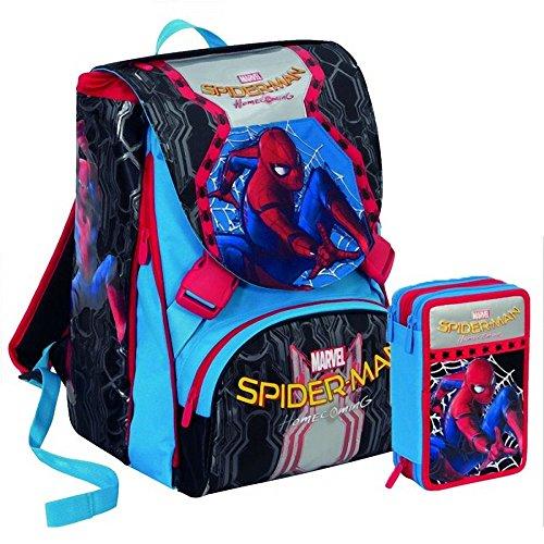 Zaino Spiderman Homecoming New 2018 Zaino Sdoppiabile Big Seven Pattina Sfogliabile 28 Lt Schoolpack Astuccio 3 Scomparti Maschera Spiderman 0