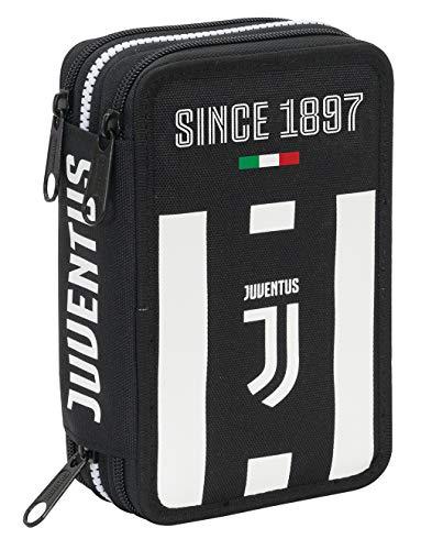 Astuccio 3 Zip Juventus Coaches Bianco Nero Con Materiale Scolastico 18 Pennarelli E 18 Pastelli Giotto Penna Tratto Cancellik 0