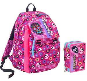Seven Zaino Scuola Mexi Girl Rosa Estensibile Variant System 32 Lt Elementari E Medie Inserti Rifrangenti Astuccio 0