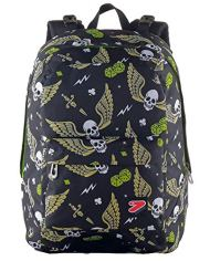 Zaino Reversibile The Double Skull Boy Nero Con Cuffie Stereo Soft Touch 27 Lt 2in1 Scuola Tempo Libero 0 5