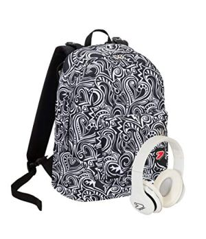 Zaino Seven The Double Maze Girl Bianco E Nero Fantasia Cuffie Wireless 2 Zaini In 1 Reversibile 0