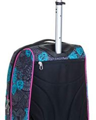 Trolley Fit Seven Colorflower Nero 35 Lt 2in1 Zaino Con Sollevamento Spallacci Per Uso Trolley Scuola Viaggio 0 0