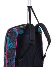 Trolley Fit Seven Colorflower Nero 35 Lt 2in1 Zaino Con Sollevamento Spallacci Per Uso Trolley Scuola Viaggio 0 1