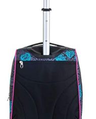 Trolley Fit Seven Colorflower Nero 35 Lt 2in1 Zaino Con Sollevamento Spallacci Per Uso Trolley Scuola Viaggio 0 2