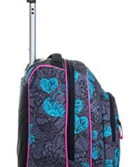 Trolley Fit Seven Colorflower Nero 35 Lt 2in1 Zaino Con Sollevamento Spallacci Per Uso Trolley Scuola Viaggio 0 3