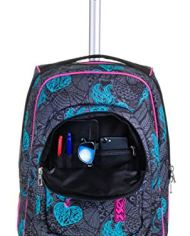 Trolley Fit Seven Colorflower Nero 35 Lt 2in1 Zaino Con Sollevamento Spallacci Per Uso Trolley Scuola Viaggio 0 5