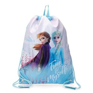 Disney Sacca Zaino Frozen True To Myself Blu 30x40 0