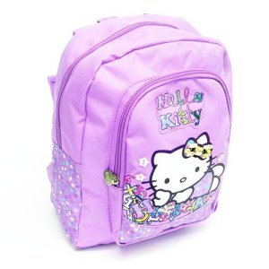 Hello Kitty Folk Font Mini Zaino Scuola 2013 2014 Lilla 0