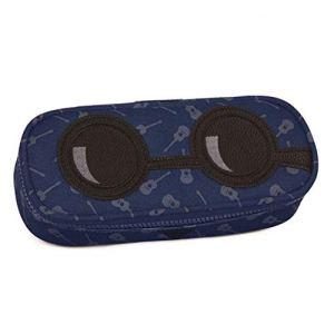 Lema Net Astuccio Ovale Invicta Yap Lip Pencil Bag 306021712blu Porta Penne Seven Blu Con Chitarre Faccine 23x10x55cm 0