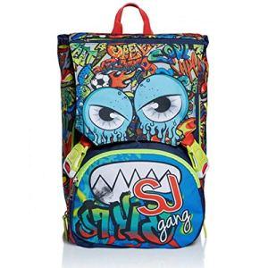 Schoolpack Zaino Seven Sj Gang Facce Boy Verde Estensibile Astuccio 3 Zip 0 0