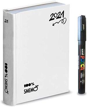 Diario Agenda Smemoranda Bianco Special Uniposca 20202021 16 Mesi Datato 15x11 Cm Penna Colorata Omaggio 0