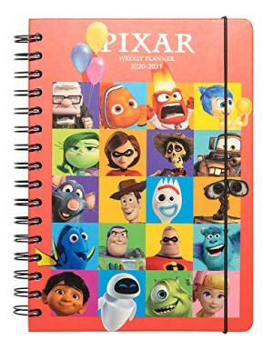 Diario Scuola Settimanale 20202021 Pixar 25 Anniversario 12 Mesi A5 Spazi Extra Per La Pianificazione Adesivi Stickers 0