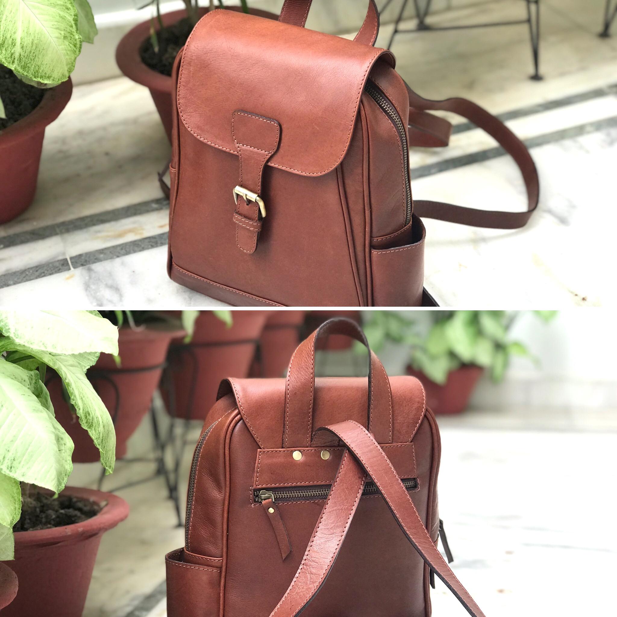 Zakara Leather School Bag