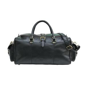 Black Soft Leather Duffle Bag