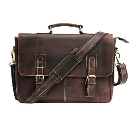 Zakara Leather Briefcase Bag
