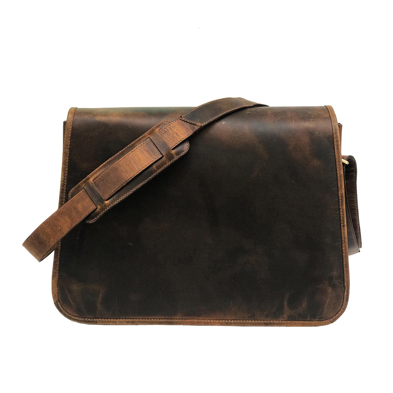 Zakara Hunter Leather Messenger Bag